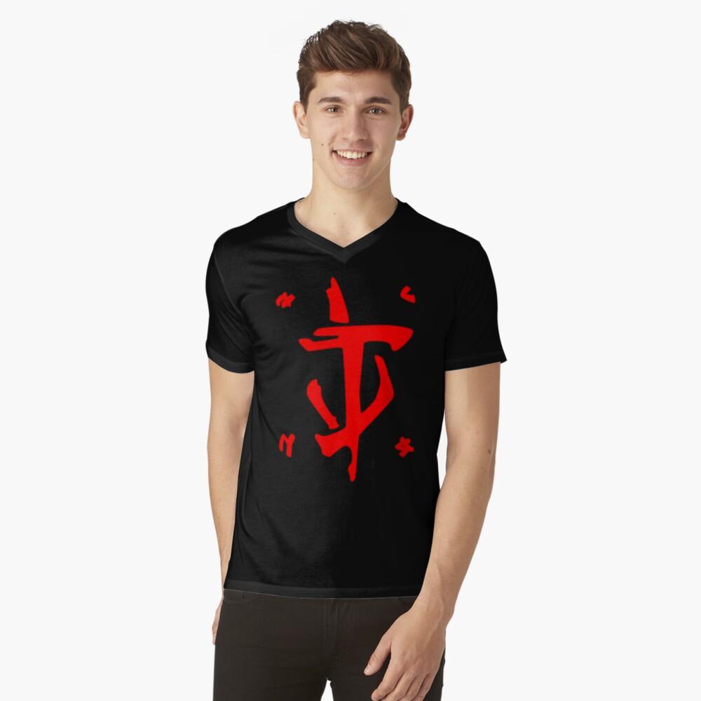 Mark of the Doom Slayer - Red V-Neck T-Shirt
