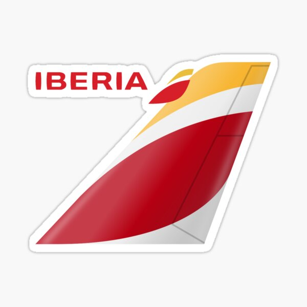 Logotipo de Iberia Pegatina