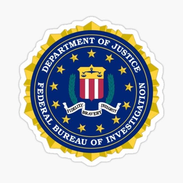 FBI AUTHENTIC SEAL / STAMP Sticker
