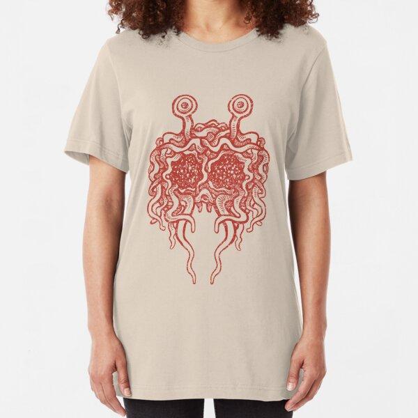 Flying Spaghetti Monster (tomato sauce) Slim Fit T-Shirt