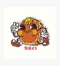 OHAYO Pancake Art Print