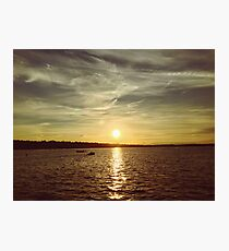 A beautiful summer sunset by the lake Photographic Print