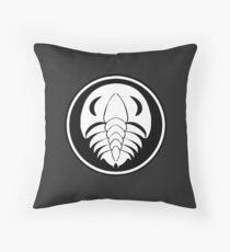 Trilobite Emblem Throw Pillow
