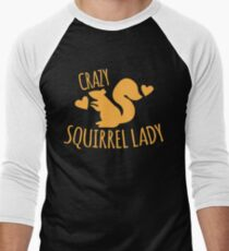 Crazy Squirrel lady Men's Baseball ¾ T-Shirt