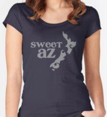 Sweet Az avec tatoo Nouvelle-Zélande carte T-shirt échancré