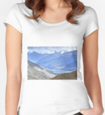 The Remarkable Mountain Range, Queenstown, New Zealand Women's Fitted Scoop T-Shirt