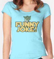 Joke Yoda Women's Fitted Scoop T-Shirt