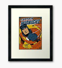 Captain Midnight Comic Cover Framed Print