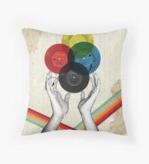CMYK - the creation of retro Throw Pillow