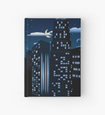 Night Cityscape Background Hardcover Journal