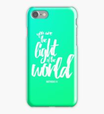 Matthew 5:14 iPhone Case/Skin