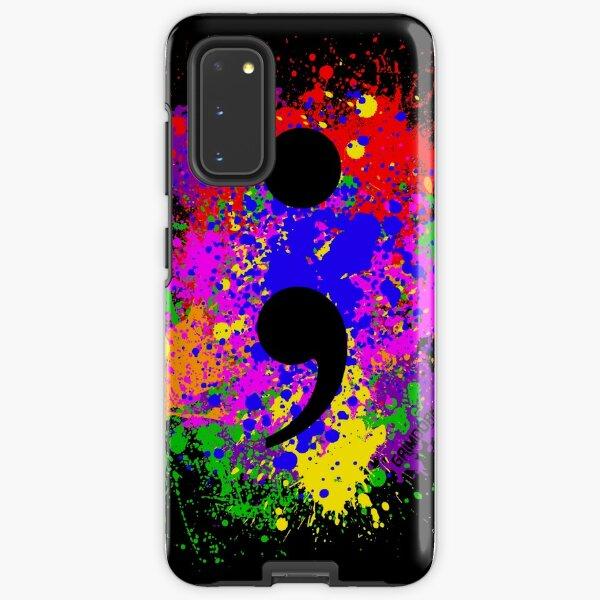 Semicolon Paint Splatter Samsung Galaxy Tough Case