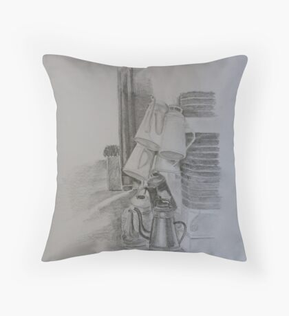 Watering Cans Throw Pillow