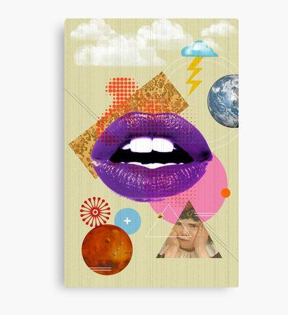 Retro Collection  --  Retro Kiss Canvas Print