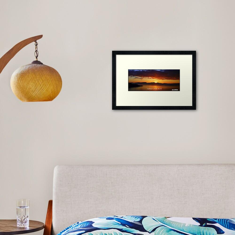 Sunset  over Islay Framed Art Print