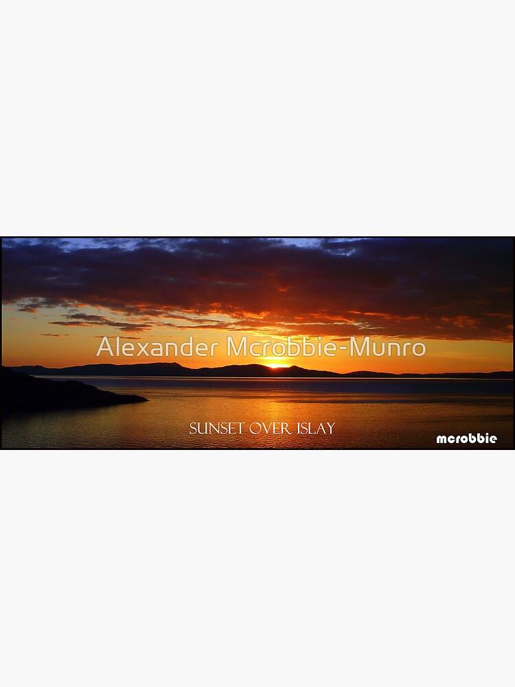 Sunset  over Islay by Alexanderargyll
