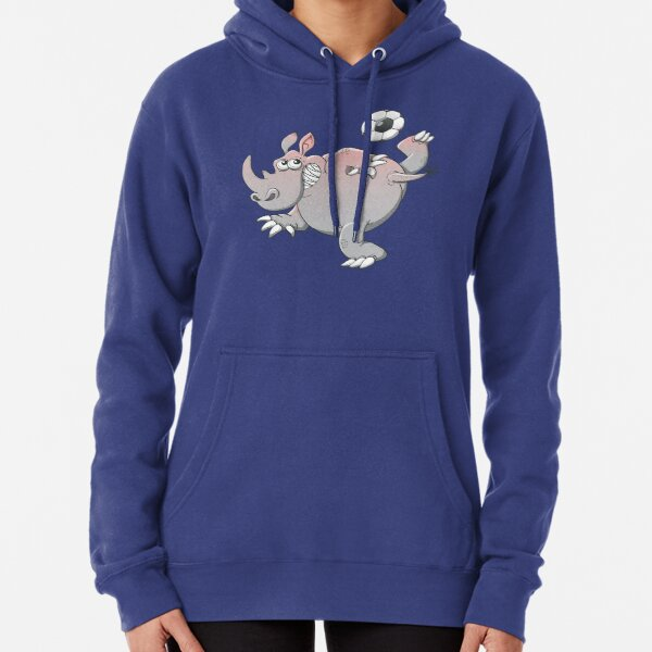 A Rhinoceros is the New Star of Soccer Pullover Hoodie