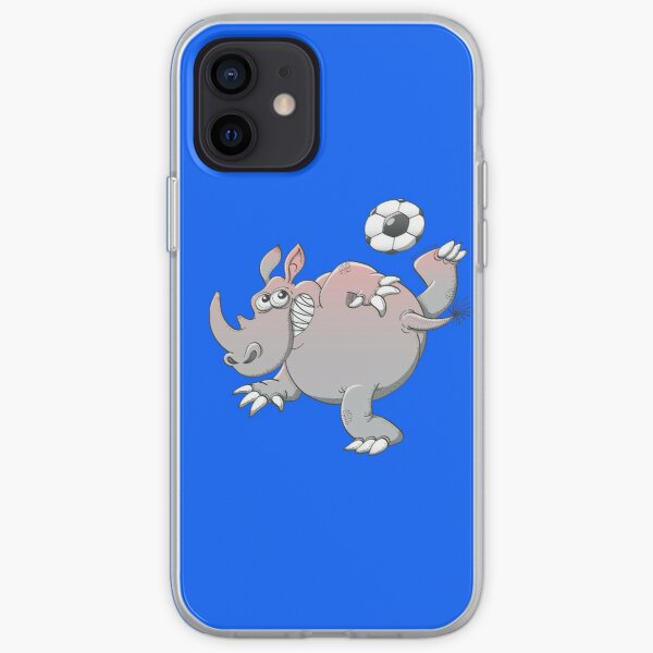 A Rhinoceros is the New Star of Soccer iPhone Soft Case