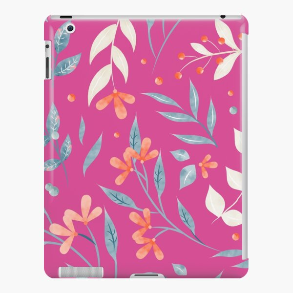 Flowers and Leaves in Pink iPad Snap Case