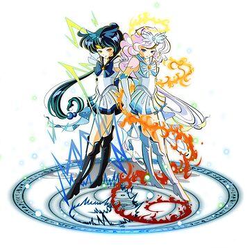 Sailor Zekrom and Reshiram by psyconorikan