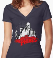 The Abominable Dr.Phibes Women's Fitted V-Neck T-Shirt