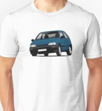 Daihatsu Charade GTti illustration, blue T-Shirt