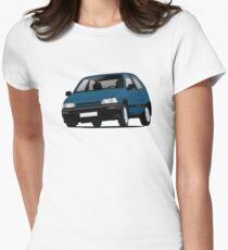 Daihatsu Charade GTti illustration, blue Women's Fitted T-Shirt