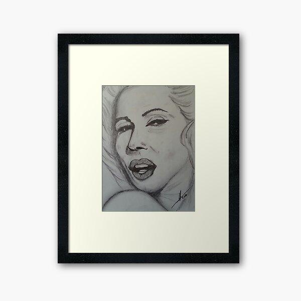 Marilyn Monroe art Lámina enmarcada