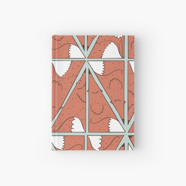 Triangle foxes Hardcover Journal