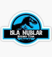 Pegatina Equipo de investigación Isla Nublar