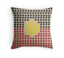 Aboriginal flag Throw Pillow