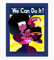 """We"" Can Do it! // Garnet Steven Universe Poster Photographic Print"