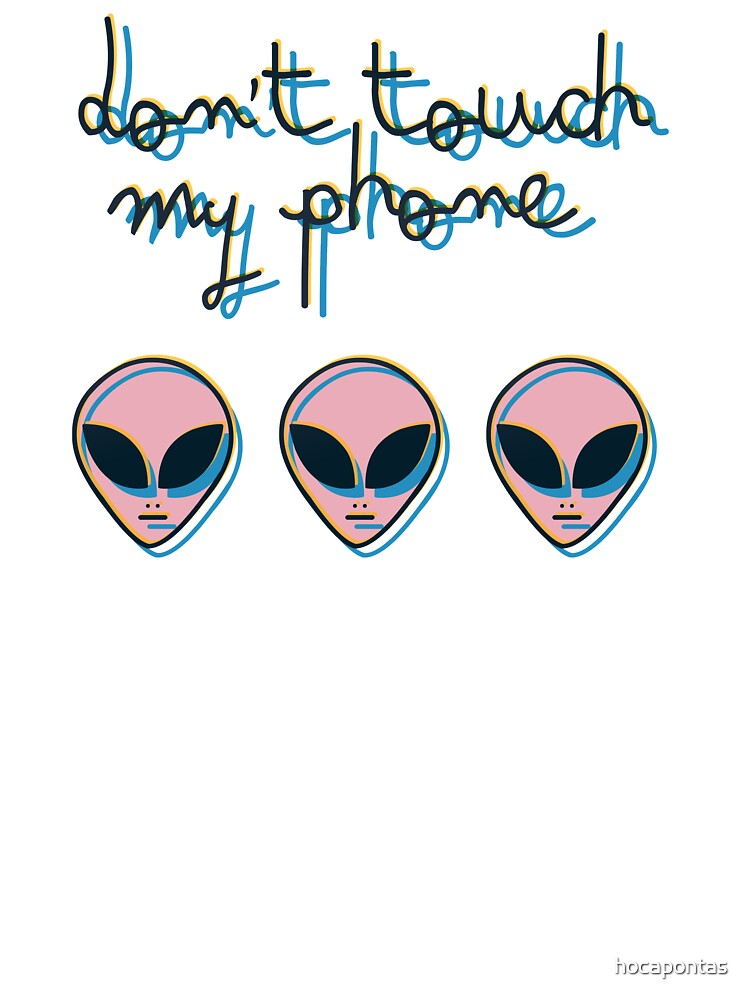 Don't Touch My Phone // Alien 3D Vaporwave Indie | Baby One-Piece