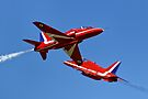 The RAF Red Arrows Aerobatic Team by Andrew Harker