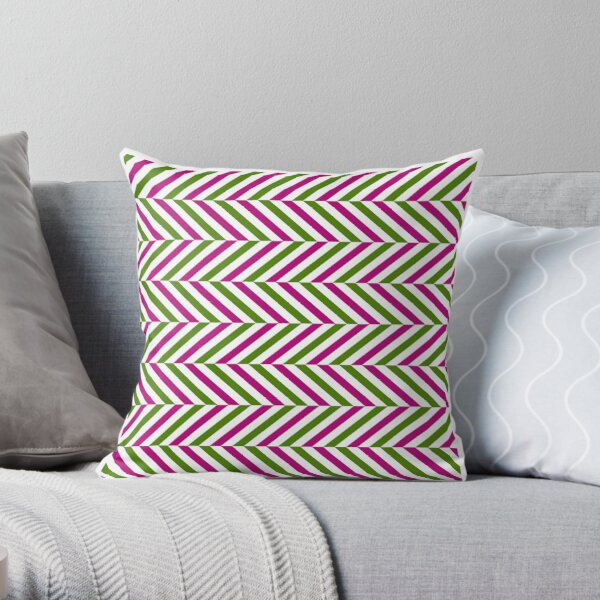 Zigzag pattern  Throw Pillow