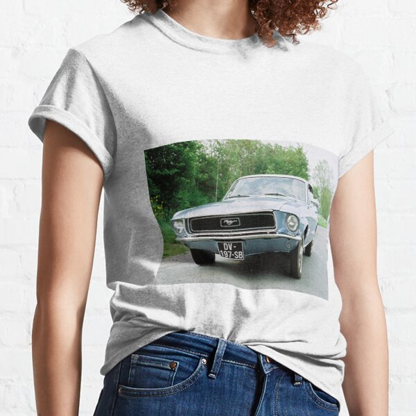 My Icon Art /& Clothing Ford Mustang Car 1968 Fastback GT 390 Film Bull Herren T-Shirt