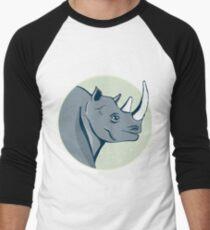 hand drawn rhinoceros Men's Baseball ¾ T-Shirt