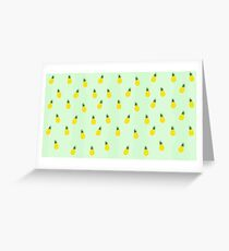 Graphic Pineapple Greeting Card