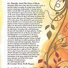 desiderata poem, golden autumn swirls by Desiderata4u