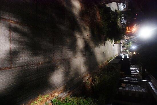 Night Scene Six - Street Shadows by chalkwhitehands