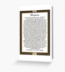 desiderata poem by max ehrmann Greeting Card