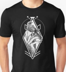 Bird In The Tattooed Hand (Black) Unisex T-Shirt