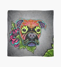 Boxer in Fawn - Day of the Dead Sugar Skull Dog Scarf