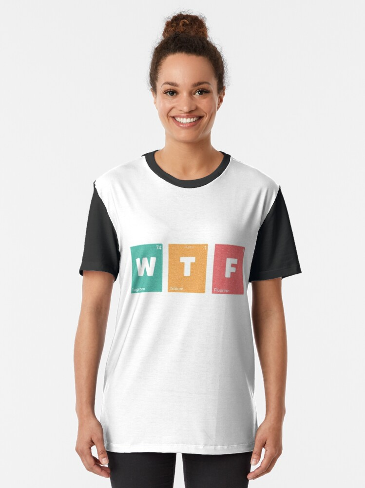 Alternate view of WTF #A026 Graphic T-Shirt