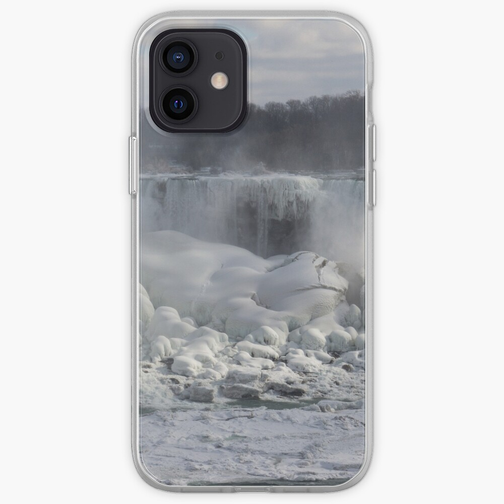 Niagara Falls Spectacular Ice Buildup - American Falls, New York State, USA iPhone Case & Cover