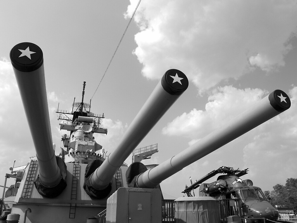 Her famous 16inch Guns by nastruck
