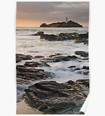 Godrevy Lighthouse, Cornwall, England Poster