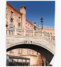 Arched bridge Venetian architecture details art photo print Poster