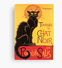 Le Chat Noir Vintage Poster Canvas Print