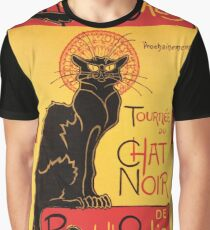 Le Chat Noir Vintage Poster Graphic T-Shirt